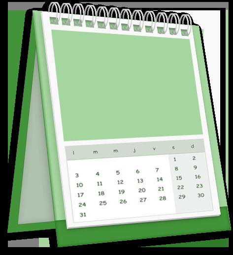 Impression d'un calendrier couleur